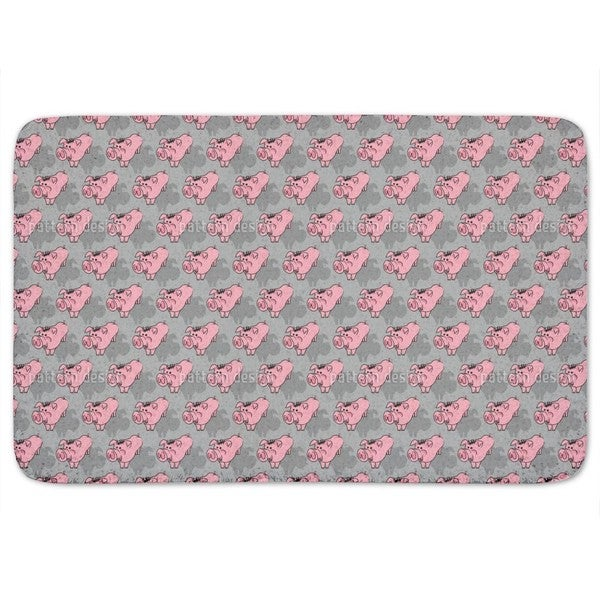 Piggies Grey Bath Mat