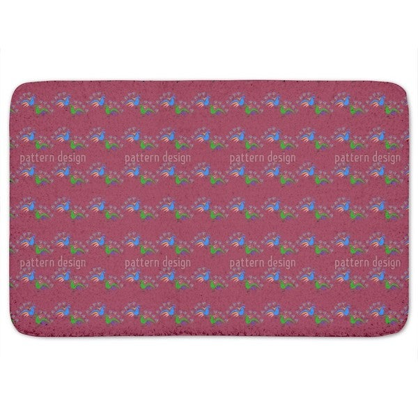 Peacocks Dance Bath Mat