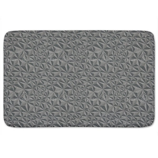 Paper Geometry Dark Grey Bath Mat