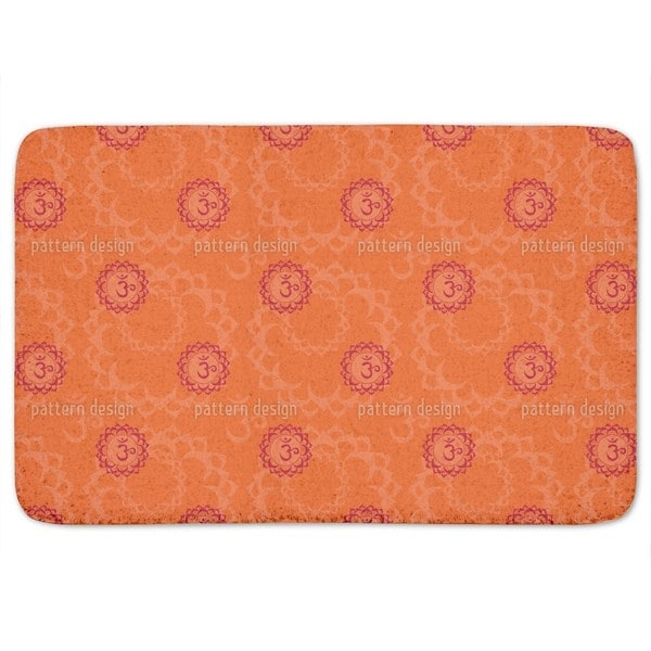 Orange Om Bath Mat