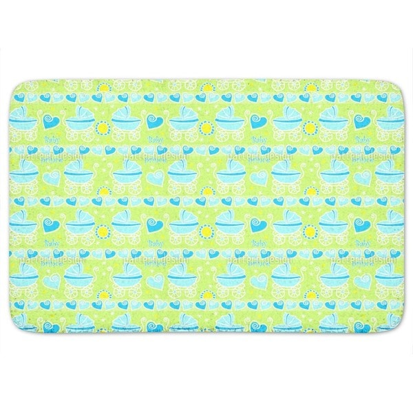 Neon Baby Blue Bath Mat
