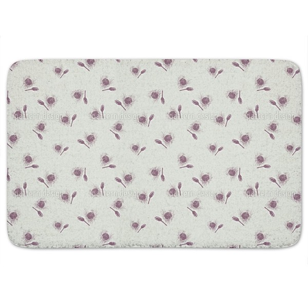 Snow Thistle Bath Mat 17997225