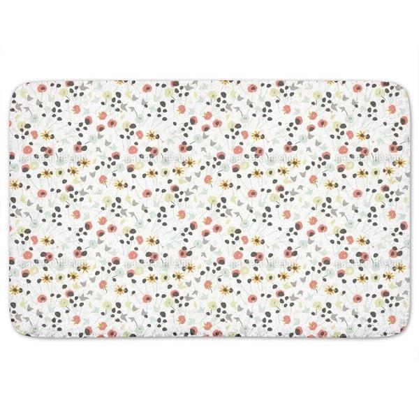Mille Fleur White Bath Mat