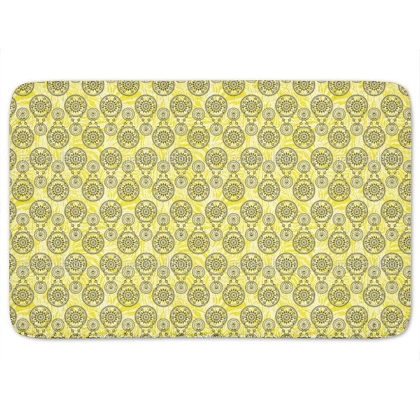 Mehndi Yellow Bath Mat