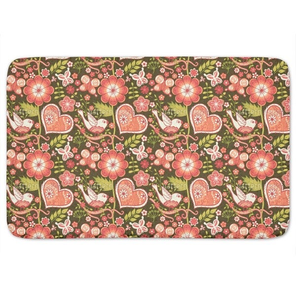 Love Confessions In The Folklore Garden Bath Mat