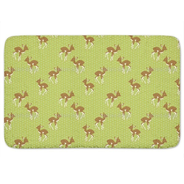 Little Polka Fawn Bath Mat