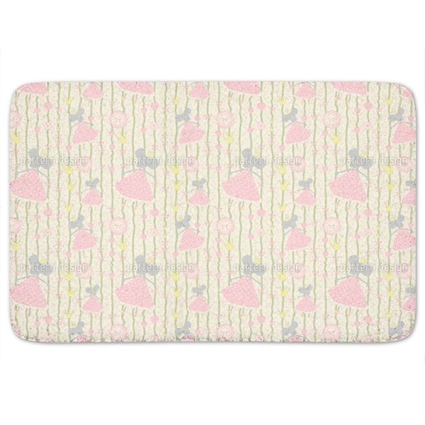 Little Mice Princess Birthday Bath Mat
