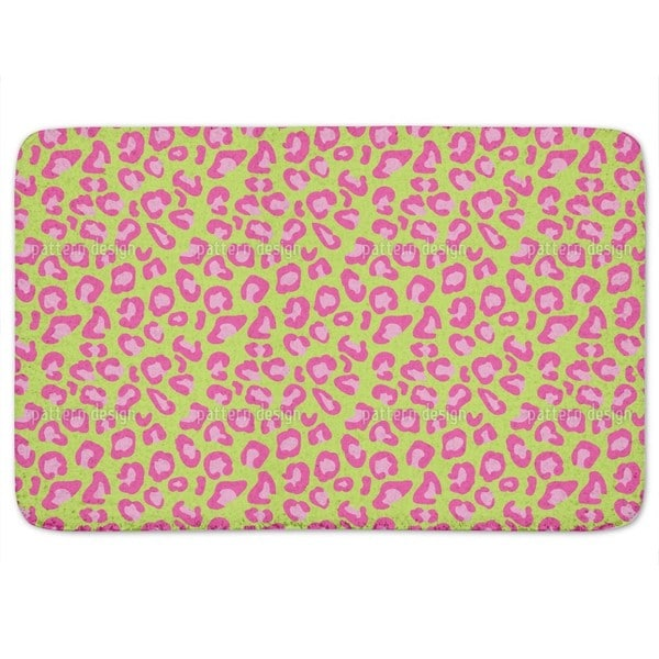 Leopard Animalprint Lime Bath Mat