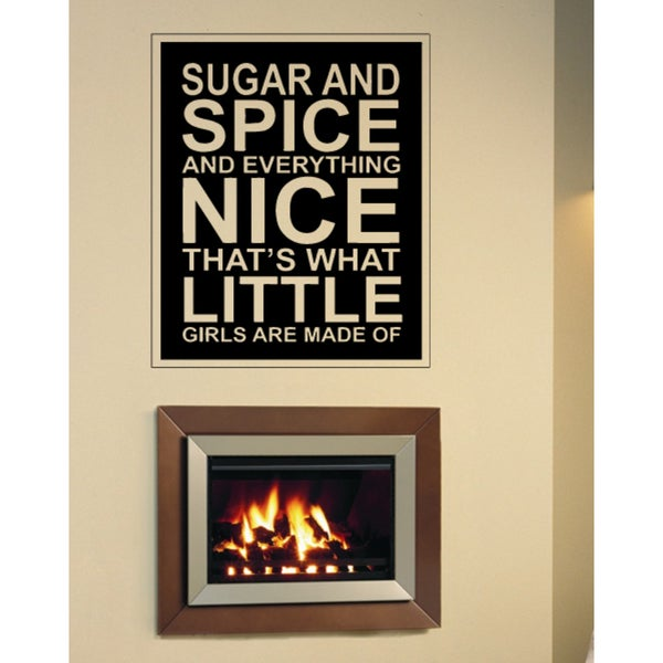 Phrase Sugar and Spice and Everything Nice Wall Art Sticker Decal
