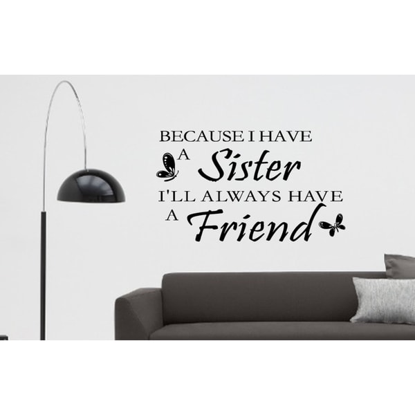 Quote of sister Wall Art Sticker Decal