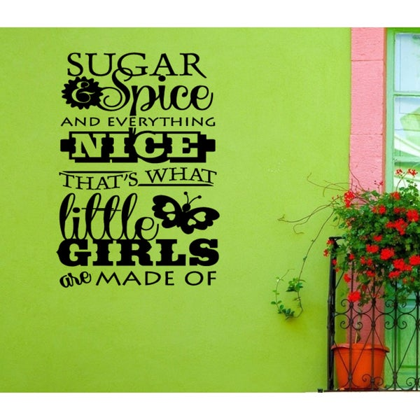 Sugar and Spice and Everything Nice Little girl Wall Art Sticker Decal