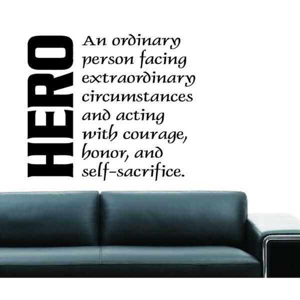 Hero Definition quote Wall Art Sticker Decal