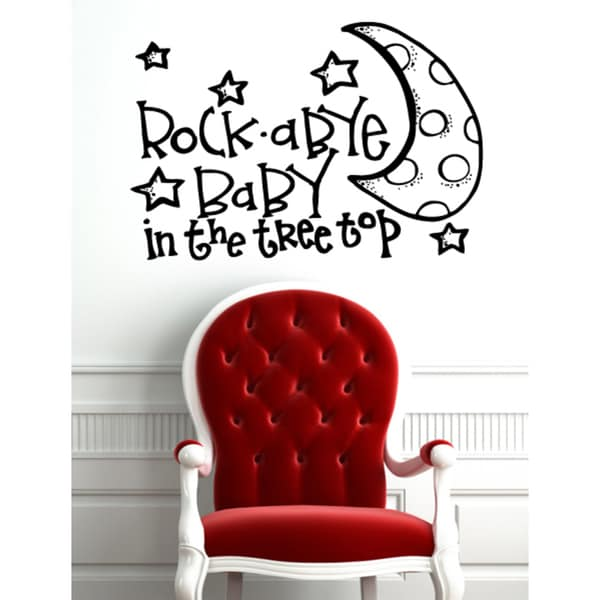 Inscription Rock-A-Bye Baby Wall Art Sticker Decal