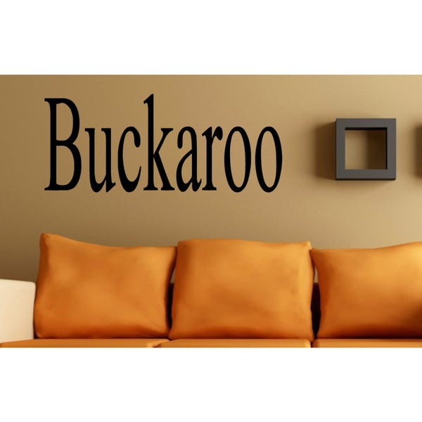 Buckaroo Wall Art Sticker Decal