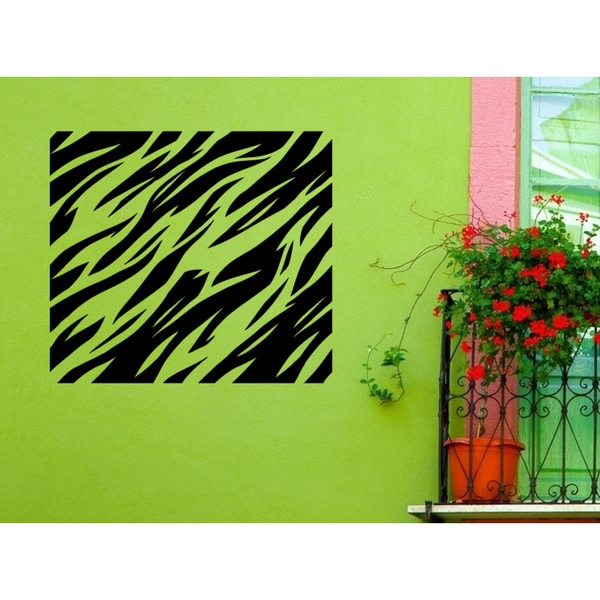 Tiger Stripes Square Wall Art Sticker Decal