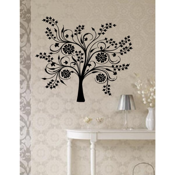 Blossoming flowers on the tree Wall Art Sticker Decal