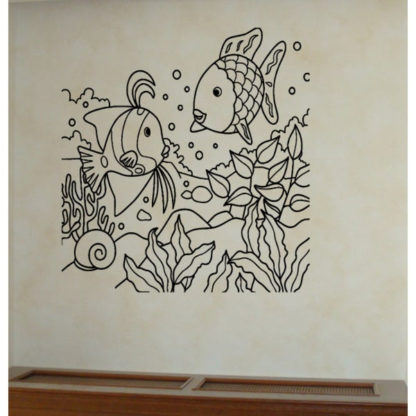 Algae and fish Wall Art Sticker Decal