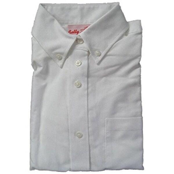 Betty Z Girl's Oxford Blouse School Uniform Shirt
