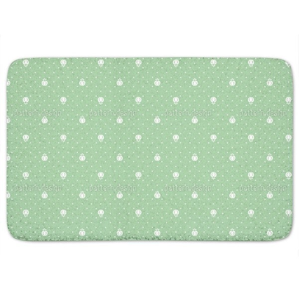 Fruits On Green Bath Mat