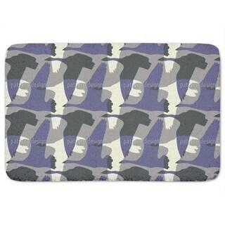 Flying Goose Mute Purple Bath Mat