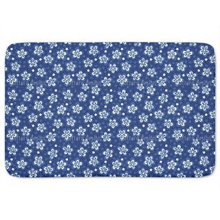 Flowers And Pixels Bath Mat