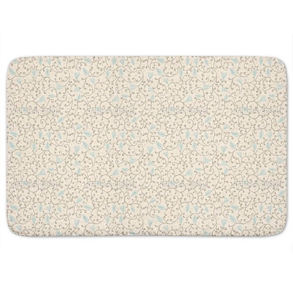 Floral Softness Bath Mat