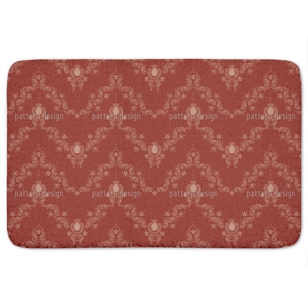 Floral Baroque Red Bath Mat