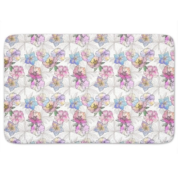 Flora Loves Water And Color Bath Mat 18002179