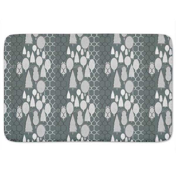 Fency Forest Monochrome Bath Mat
