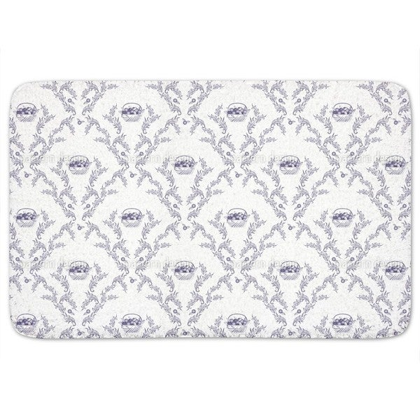 Emmas Cherries Blue Bath Mat
