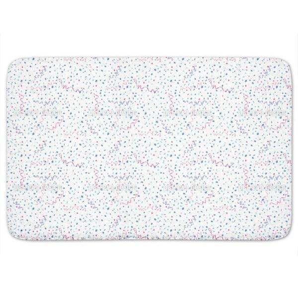 Confetti White Bath Mat