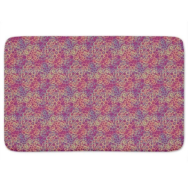 Cloud Of Rings Bath Mat