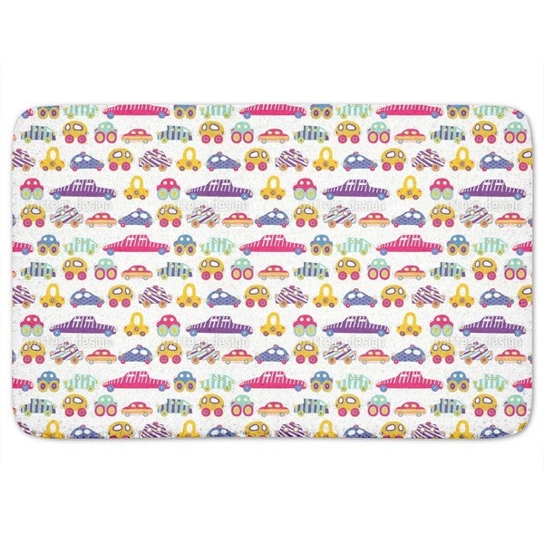 Car Convoy Bath Mat