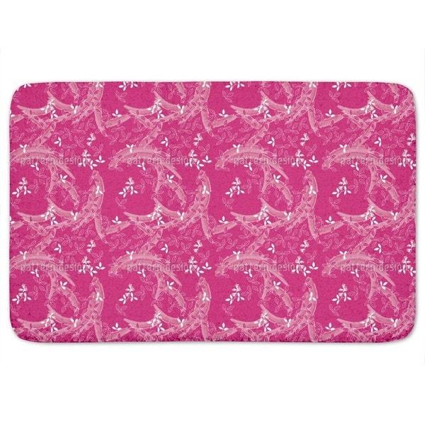 Bush Clover Asia Pink Bath Mat