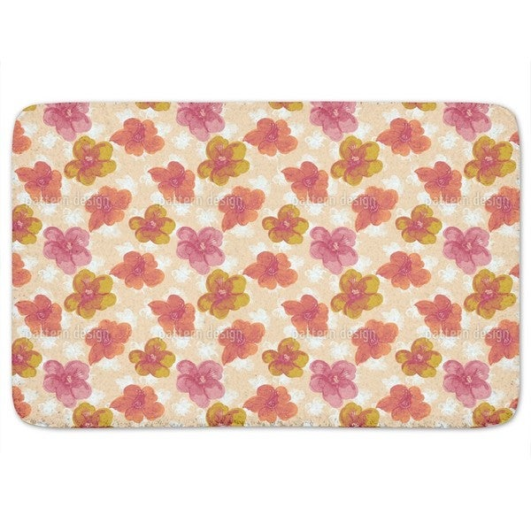 Brisk Flowers Bath Mat