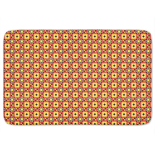 Bright Ethno Quilt Bath Mat