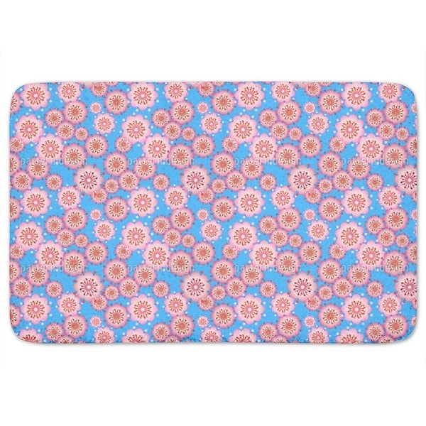 Blossoms From Japan Bath Mat