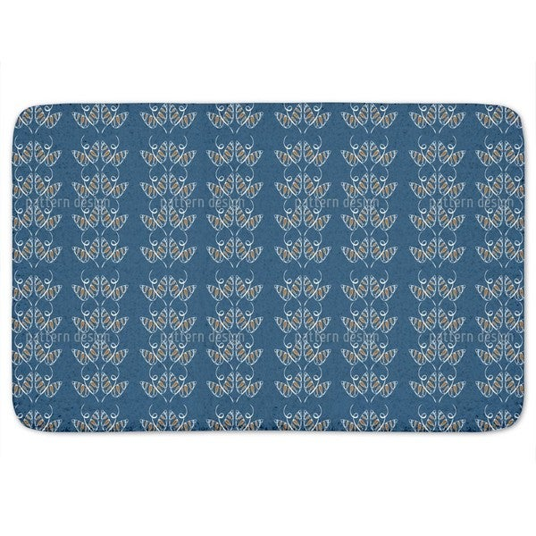 Attracting Butterflies In Blue Bath Mat
