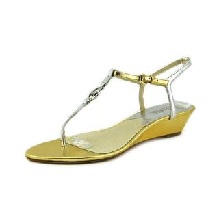 Michael Michael Kors Women's 'Nora Wedge' Leather Sandals