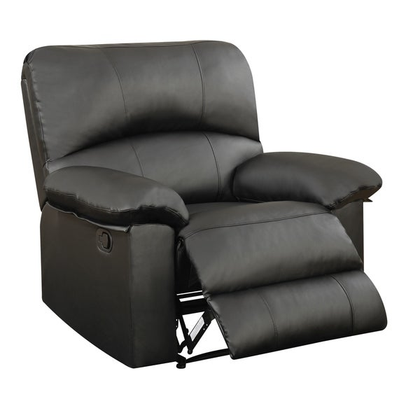 Global Furniture Black Faux Leather Recliner