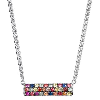 Effy Final Call 925 Sterling Silver Multi-color Gemstone Necklace