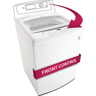 LG WT1501CW 4.5-cubic Foot Ultra Large Capacity Top Load Washer with Front Control Design in White