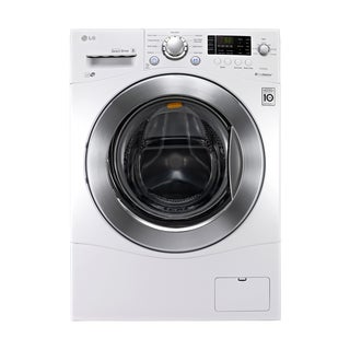 "LG WM1377HW 2.3-cubic Foot Large Capacity 24"""" Compact Large Capacity Front Load Washer in White"
