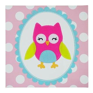 Koala Baby Girl Owl Embellished Wall Art
