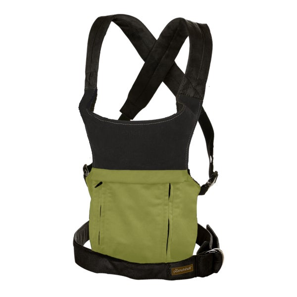 The Peanut Shell Evolve Organic Baby Carrier in Moss Green 18004880