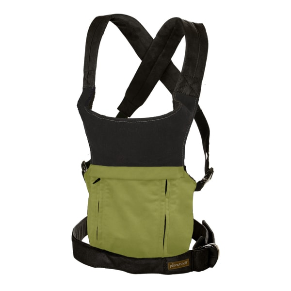 The Peanut Shell Evolve Organic Baby Carrier in Moss Green