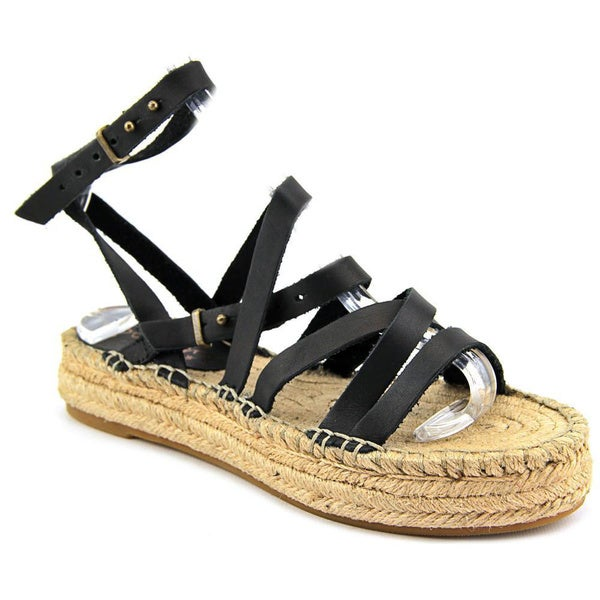 Splendid Women's 'Erin' Black Leather Sandals