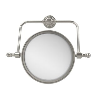 Allied Brass Retro Wave Collection Wall Mounted Swivel Make-Up Mirror 8-inch Diameter with 5X Magnification