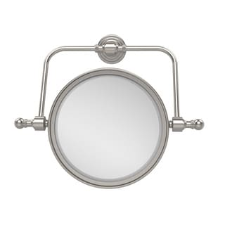 Allied Brass Retro Wave Collection Wall Mounted Swivel Make-Up Mirror 8-inch Diameter with 4X Magnification