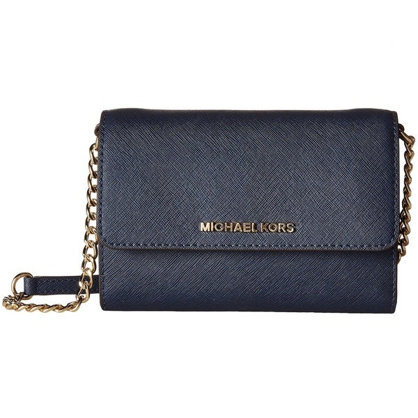 Michael Kors Jet Set Navy Travel Large Phone Crossbody Handbag